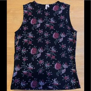 Black Cherry Blossom Tank Top